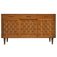 Dunbar Woven-Front Credenza by Edward Wormley