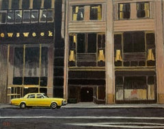 Duncan Hannah, Madison, 2002, oil on canvas (painting, New York, taxi, yellow)