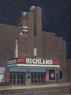 Duncan Hannah, The Highland (Movie theater, painting, highland, street view)