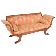 Duncan Phyfe Style Mahogany Sofa