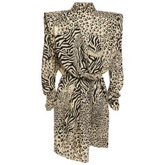 Dundas Cutout Draped Metallic Printed Crepe Mini Dress