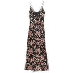 Dundas Lace Trimmed Printed Metallic Fil Coupé Silk Blend Maxi Dress