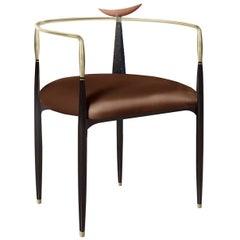 Dune Brown Chair by Livio Ballabio