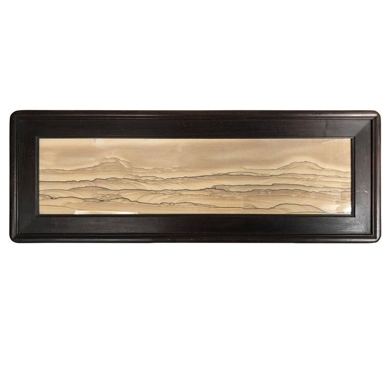 """Dunes Galore Natural Stone """"Painting"""" One of a Kind & Custom Frame For Sale"""
