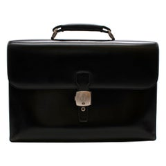 Dunhill Black Box Leather Briefcase