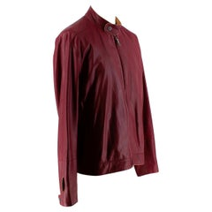 Dunhill Burgundy Lightweight Leather Jacket - Size L