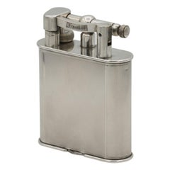 Dunhill 'Giant' Lighter with Silver Plated Engine Turned Finish, circa 1948