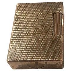 Dunhill Gold-Plated Lighter Paris France Estate Find