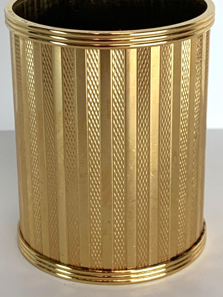 Modern Dunhill Gold-Plated Smoking Stand, Paris, circa 1950 For Sale