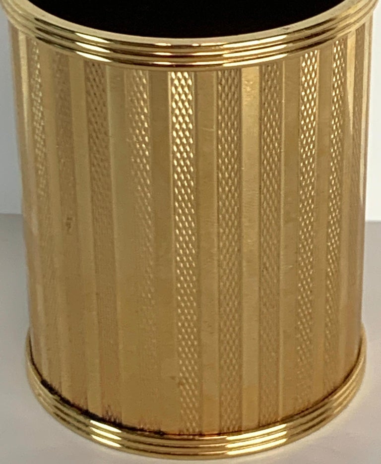 French Dunhill Gold-Plated Smoking Stand, Paris, circa 1950 For Sale