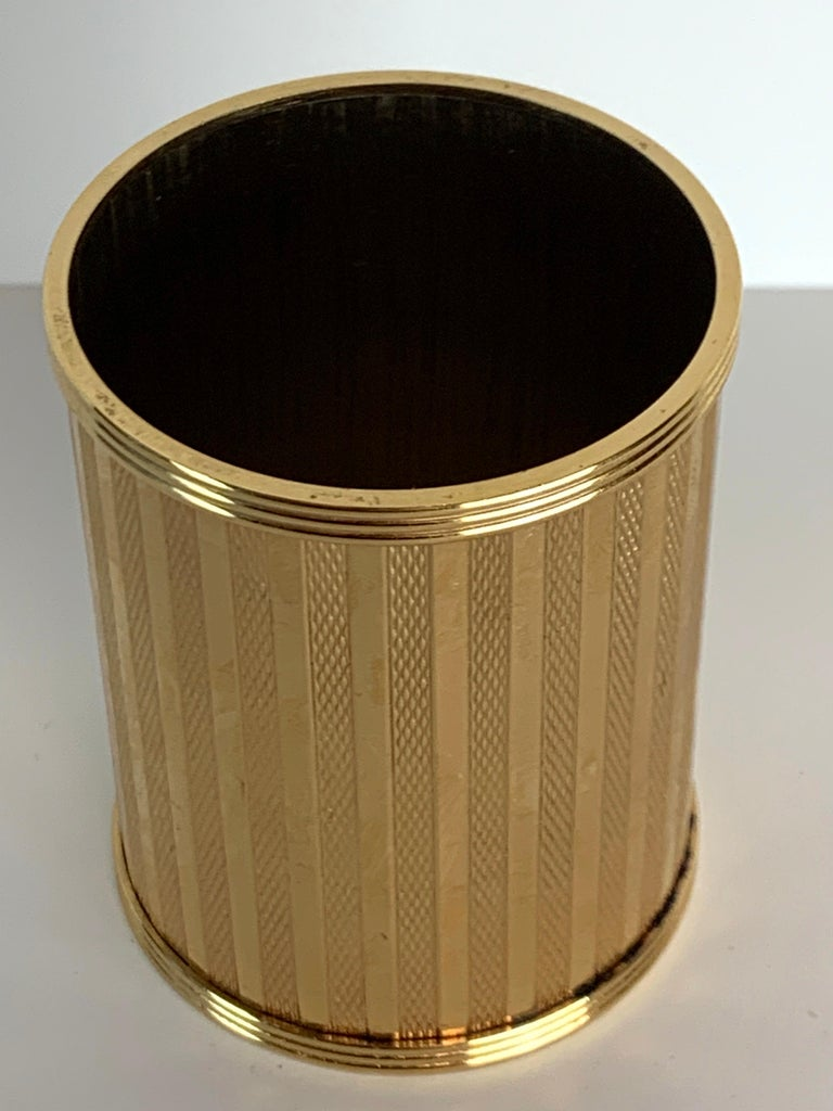 Dunhill Gold-Plated Smoking Stand, Paris, circa 1950 In Good Condition For Sale In West Palm Beach, FL