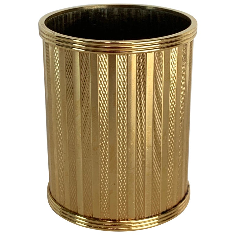 Dunhill Gold-Plated Smoking Stand, Paris, circa 1950 For Sale
