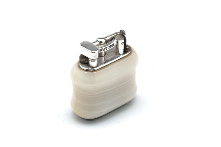 Modern Dunhill Onyx Table Lighter For Sale