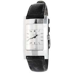 Dunhill Stainless Watch w/ Black Leather Band