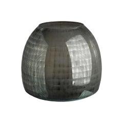 Dunleith Vase in Gray Glass by CuratedKravet