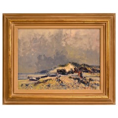 """Dunwich Beach"" Oil Painting by Geoffrey Chatten"