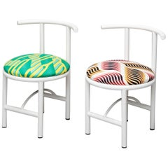Duo Set, Diner Metal Chair, Colorful Textile, Contemporary Style