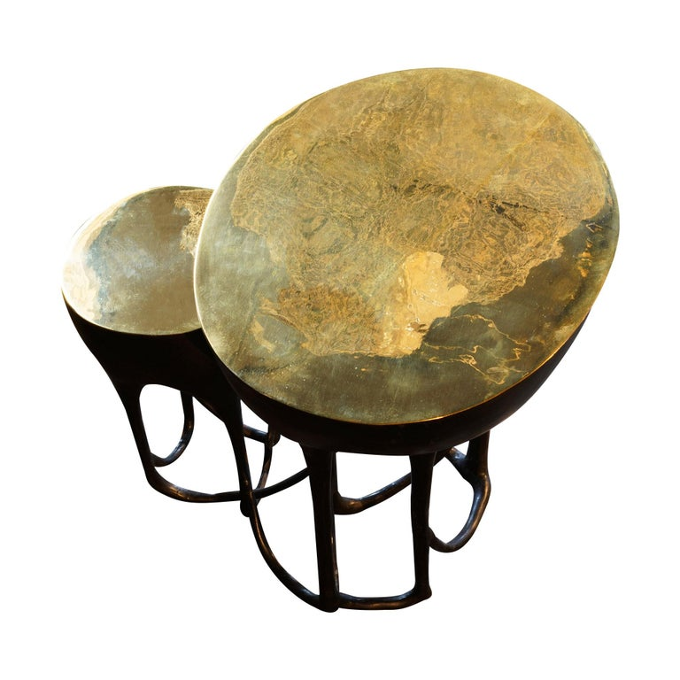 Modern Duo Side Table Contemporary For Sale
