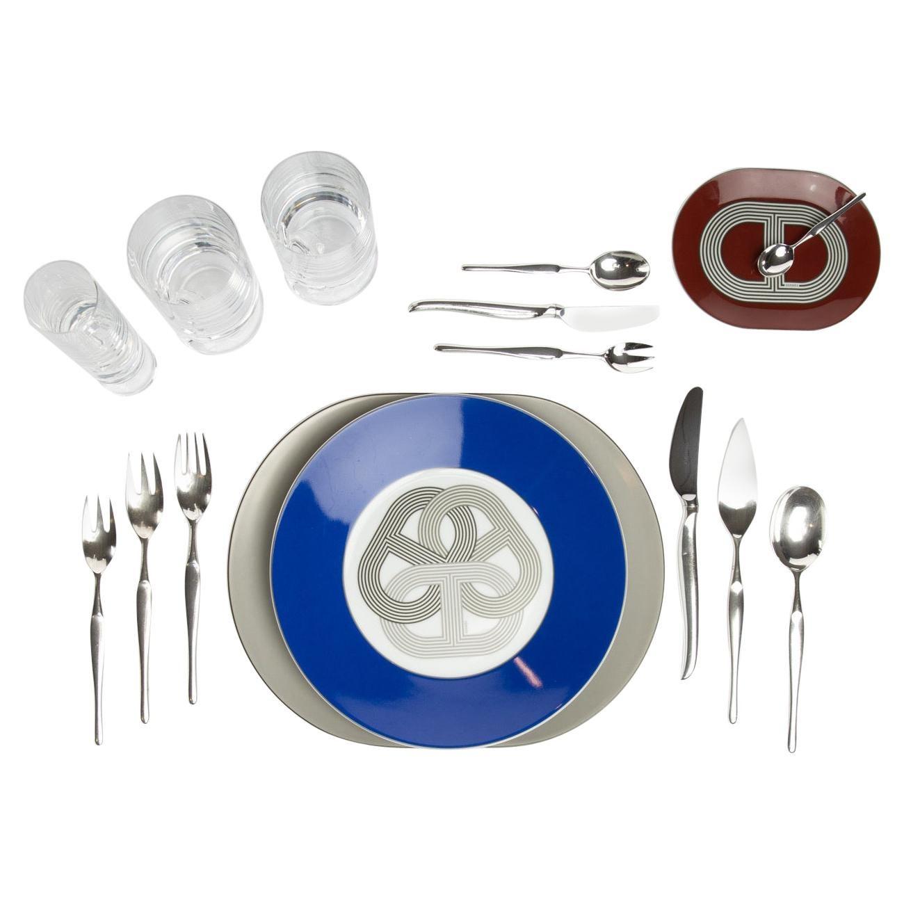 Duo, Silver-Plated Metal Flatware Set for 12 People, Tapio Wirkkala, Christofle