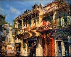 'Hanoi Style' Impressionist Painting of a Street Scene
