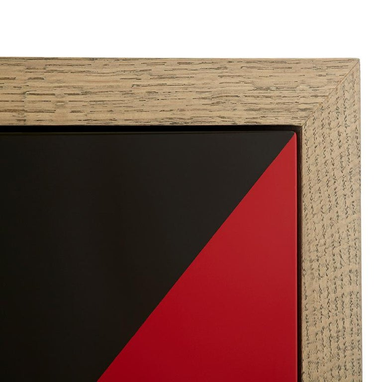 Contemporary Duplex Dresser in Black & Red lacquer  For Sale