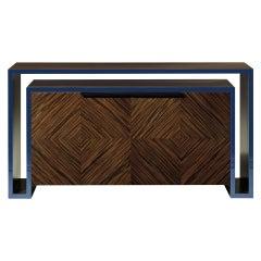 Duplo U Contemporary Sideboard in Pearl-Night-Blue