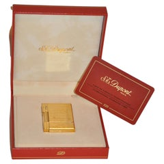 Dupont 18k Solid Yellow Gold Lighter in Original Box