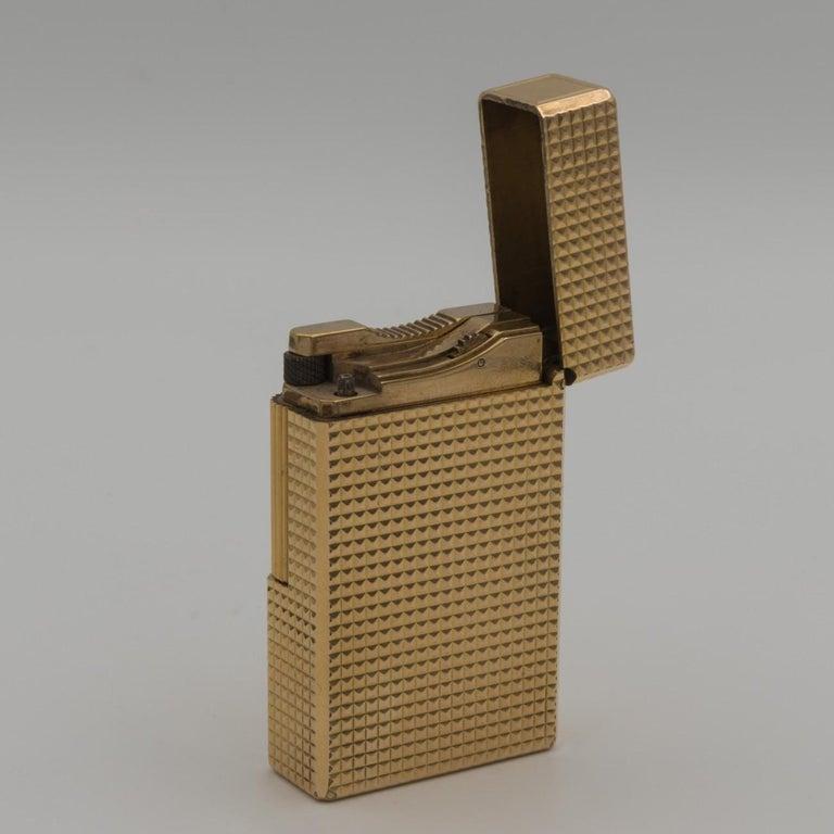 Dupont Gold-Plated Pocket Lighter, circa 1975 For Sale 6