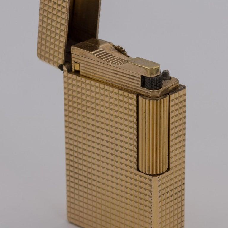 Dupont Gold-Plated Pocket Lighter, circa 1975 For Sale 10