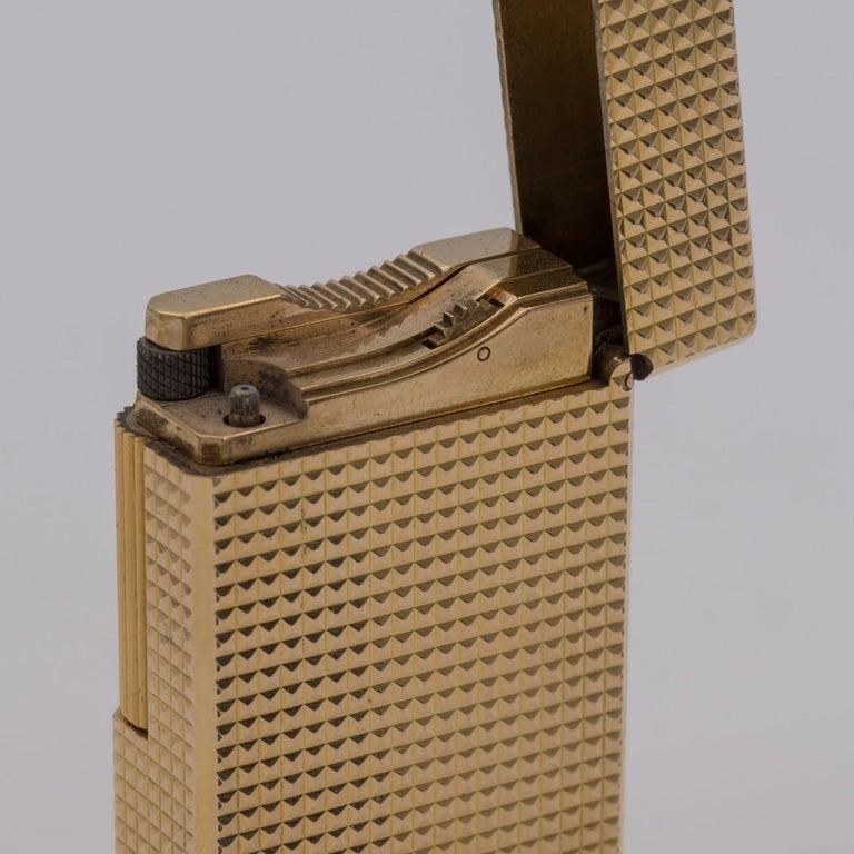 Dupont Gold-Plated Pocket Lighter, circa 1975 For Sale 12