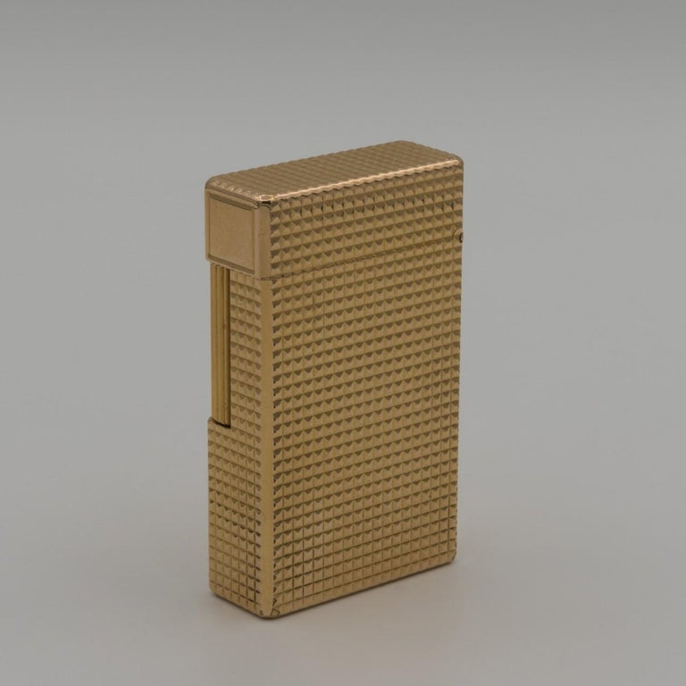 French Dupont Gold-Plated Pocket Lighter, circa 1975 For Sale