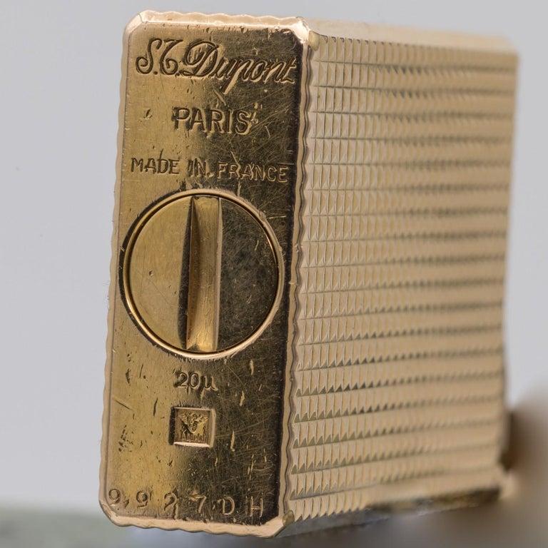 Dupont Gold-Plated Pocket Lighter, circa 1975 For Sale 2