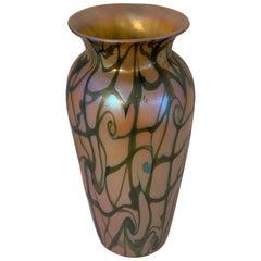 Durand King Tut Pattern Glass Vase