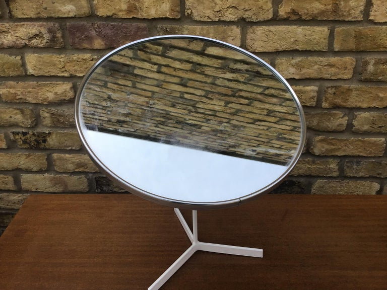 Mid-Century Modern Durlston Designs Vanity Mirror Vintage Table Mirror For Sale
