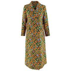 Duro Olowu Multicoloured Printed Silk Blend Coat - Size US 6