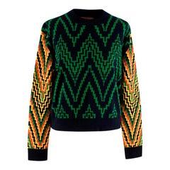 Duro Olowu Virgin Wool Zig-Zag Knit Jumper S