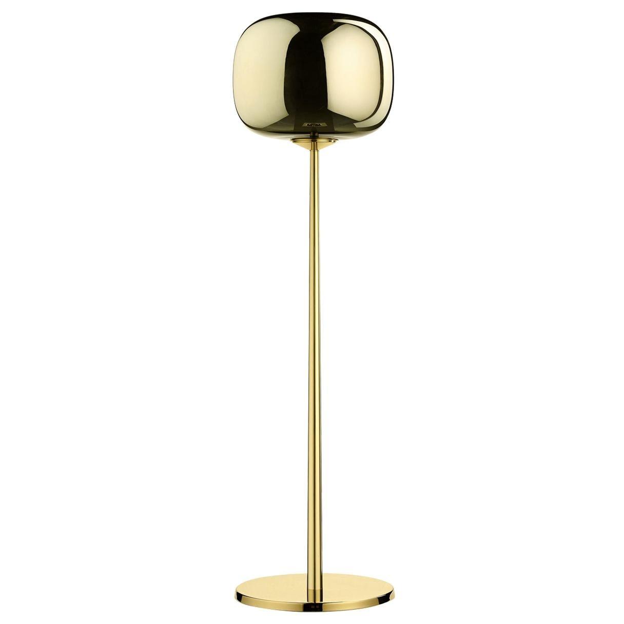 Dusk Dawn Brass Floor Lamp By Branch