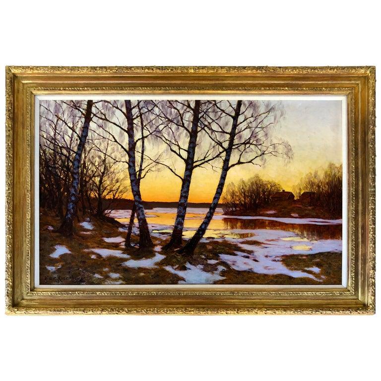 """""""Dusk on the Lake"""" by Edvard Rosenberg For Sale"""