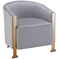 Dusk Tub Chair - Formal Modern Armchair on Sculptural Metal Legs