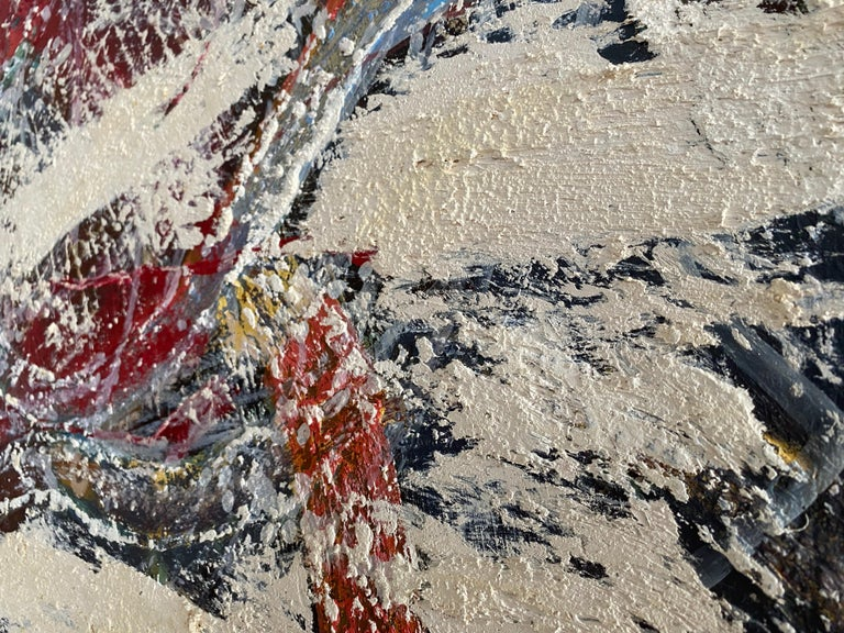 An Afternoon In June - Abstract expressionist oil painting on panel - Painting by Dustin Hedrick