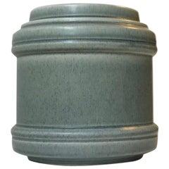 Dusty Blue Ceramic Vase by Einar Johansen, Danish, 1960s