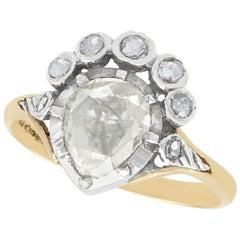 Dutch 1.59 Carat Diamond and Yellow Gold Dress Ring