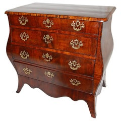 Dutch 18th Century Bombay Chest of Drawers in Mahogany and Coromandel