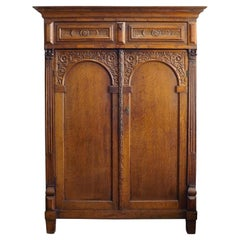 Dutch 18th Century Carved Cabinet