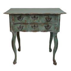 Dutch 18th Century Serpentine Painted Side Table, circa 1760