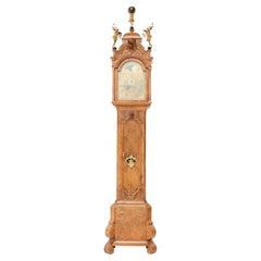 Dutch 18th Century Walnut Longcase or Grandfather Clock by Anthony Auwers