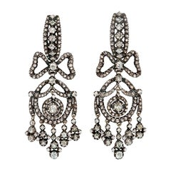 Dutch 1920s Antique Style Rose-Cut Diamond Earrings