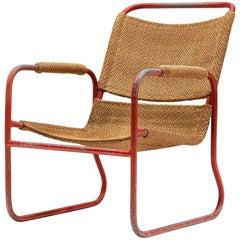 Dutch 1930s Tubular Lounge Chair