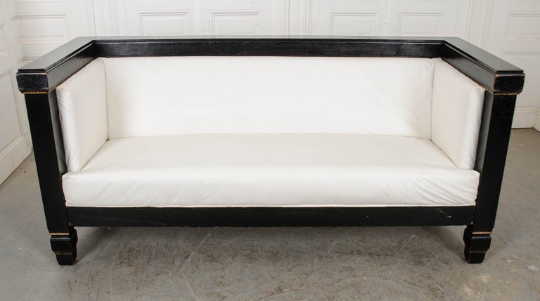 Wood Dutch 19th Century Baroque-Style Box Sofa For Sale