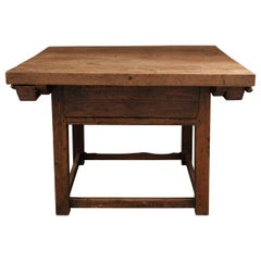 Dutch 19th Century Mixed Woods Paying Desk